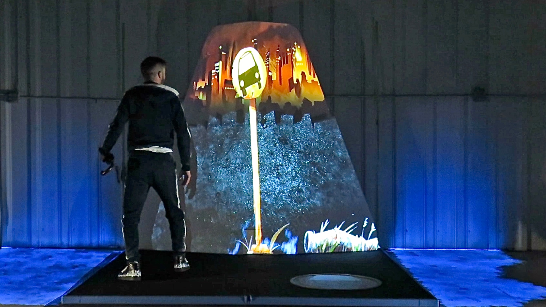 giant pop-up book video mapping